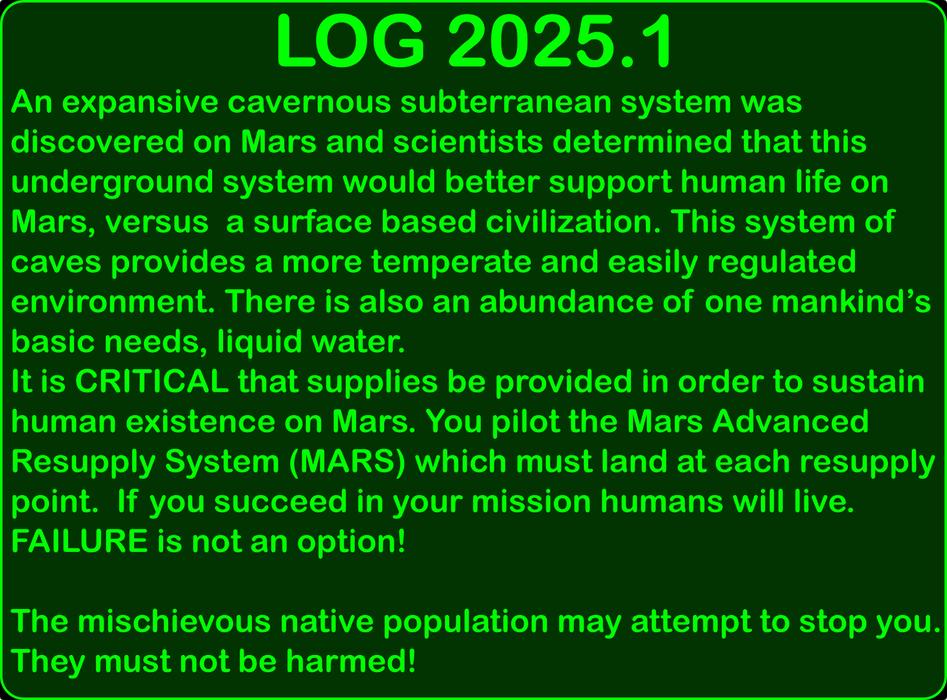 Mars Mayhem Story